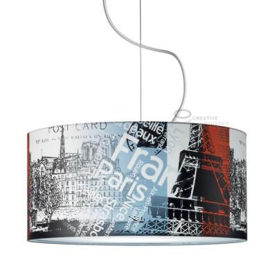 Lampe suspension complète Paris underground avec culot E27 max 60W