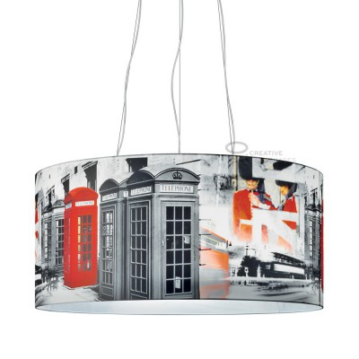 Complete Oversize pendant with three lights,  Londra Underground 3XE27 fitting Max 60W