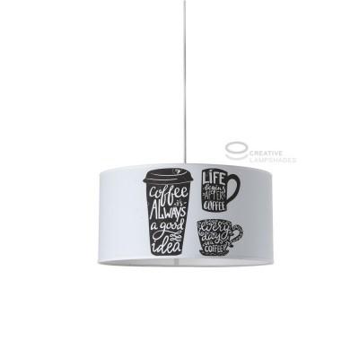 Lampe suspension complète Café avec culot E27 Max 60W