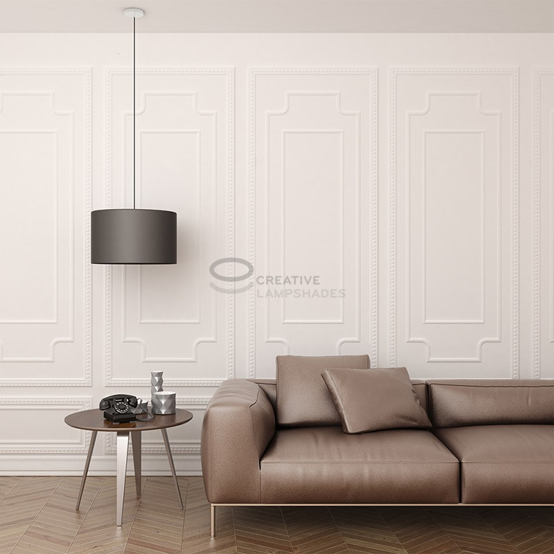 pendel f r lampenschirm mit dunkelblau seideneffekt kabel. Black Bedroom Furniture Sets. Home Design Ideas