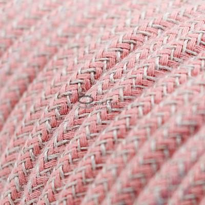 Pendel per paralume a sospensione con cavo tessile ZigZag Rosa Antico
