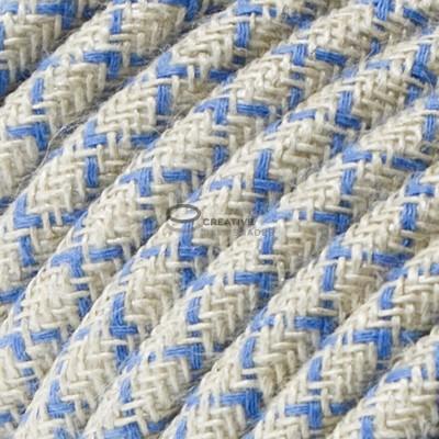 Snake per paralume con cavo tessile Losanga Blu Steward