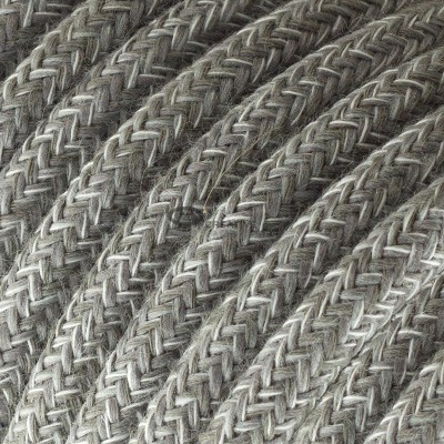 Snake for lampshade with Grey Natural Linen textile cable