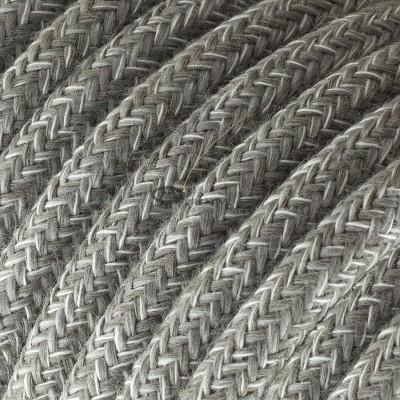 Snake per paralume con cavo tessile Lino Naturale Grigio
