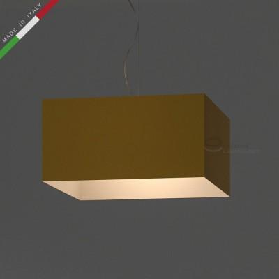 Paralume Parallelepipedo rivestimento Teletta Giallo Oro
