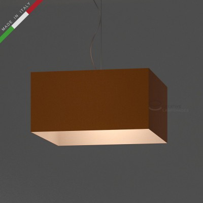 Verkleideter Lampenschirm Parallelepiped Tieforange Leinwand