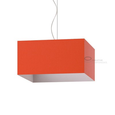 Parallelepiped Lampshade with Orange Canvas covering