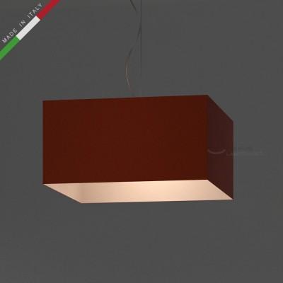 Verkleideter Lampenschirm Parallelepiped Blutorange Leinwand