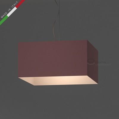Verkleideter Lampenschirm Parallelepiped Hellrosa Leinwand