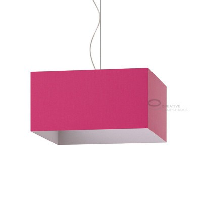 Parallelepiped Lampshade with Fuchsia Pink Canvans covering