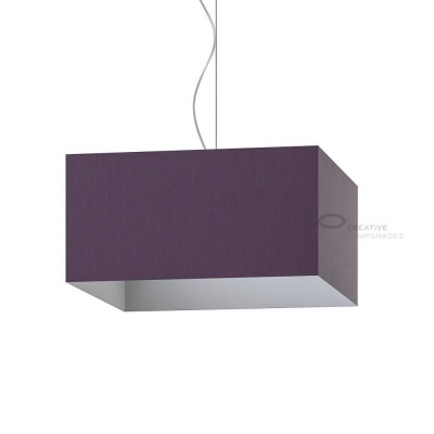 Parallelepiped Lampshade with Dark Violet Canvas covering
