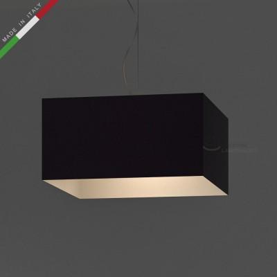 Verkleideter Lampenschirm Parallelepiped Purpurviolett Leinwand