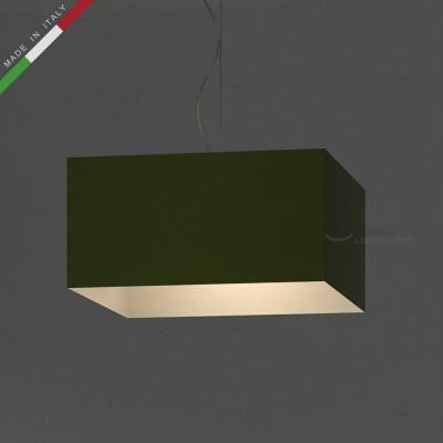 Verkleideter Lampenschirm Parallelepiped Olivegrün hell Leinwand