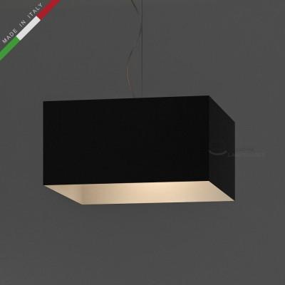 Verkleideter Lampenschirm Parallelepiped Schwarz Leinwand