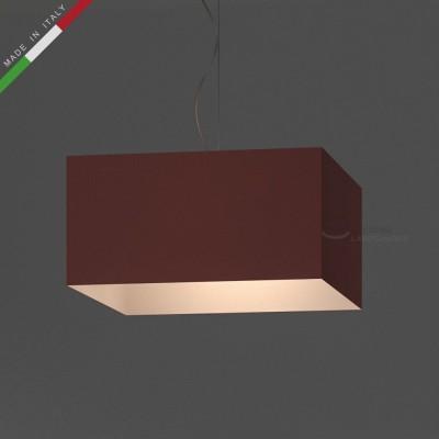 Verkleideter Lampenschirm Parallelepiped Altrosa Cinette