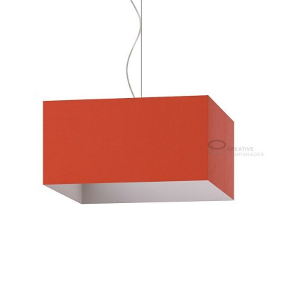 Parallelepiped Lampshade with Lobster Cinette covering