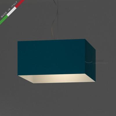 Verkleideter Lampenschirm Parallelepiped Lichtblau Cinette