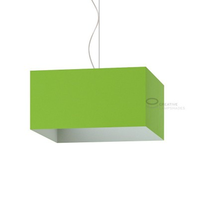 Parallelepiped Lampshade with Pistachio Green Cinette covering