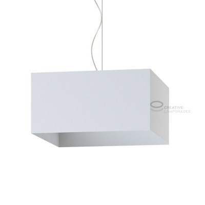 Parallelepiped Lampshade with White Lumiere covering