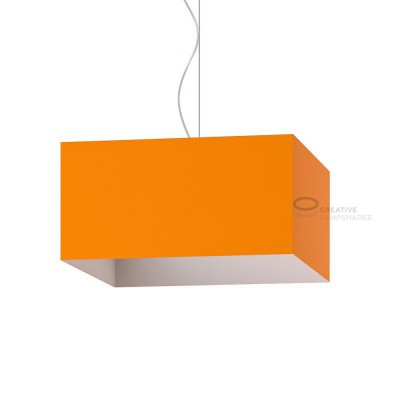 Paralume Parallelepipedo rivestimento Lumiere Arancio
