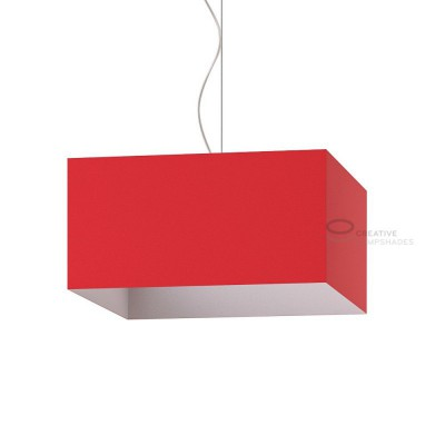 Parallelepiped Lampshade with Red Lumiere covering