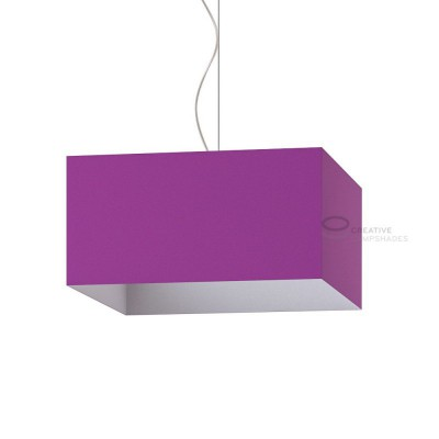 Paralume Parallelepipedo rivestimento Lumiere Viola