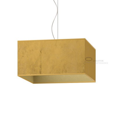 Parallelepiped Lampshade with Gold leaf covering