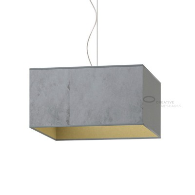 Parallelepiped Lampshade with Silver Leaf covering