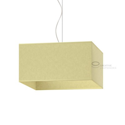 Parallelepiped Lampshade with Light Yellow Parchment covering