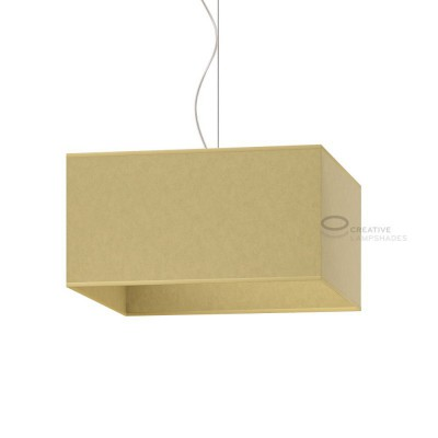 Parallelepiped Lampshade with Yellow Parchment covering