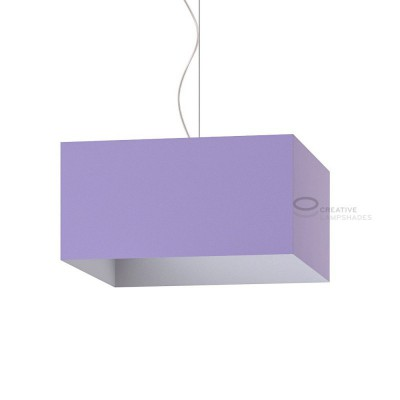 Parallelepiped Lampshade with Lilac Canvas covering