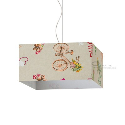 Parallelepiped Lampshade with Bike Canvas covering