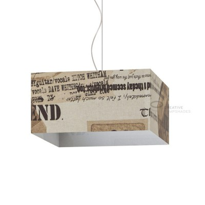Parallelepiped Lampshade with Friends Canvas covering