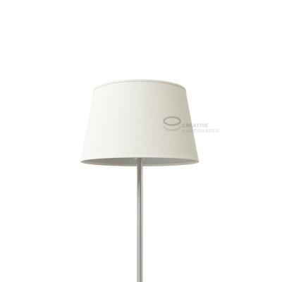 Oval verkleideter Lampenschirm Sand Leinwand