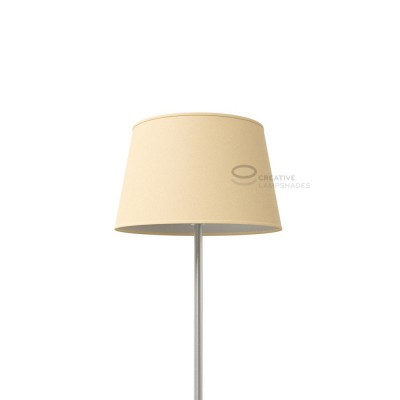 Oval Lampshade with Hazel Canvas covering
