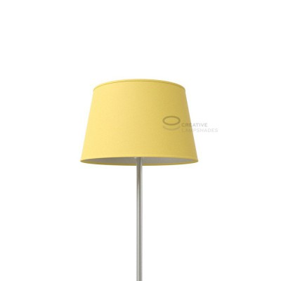 Oval Lampshade with Pale Yellow Canvas covering