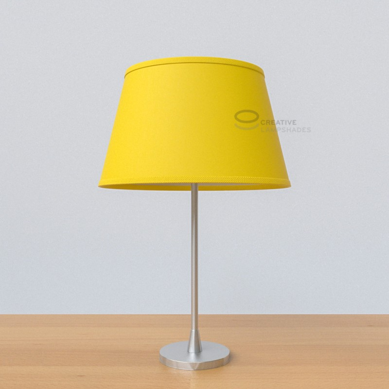 Oval lampshade with bright yellow canvas covering aloadofball Images