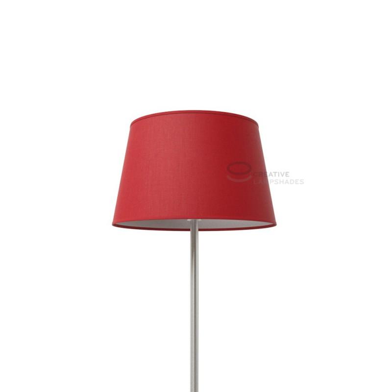Paralume Ovale rivestimento Teletta Rosso