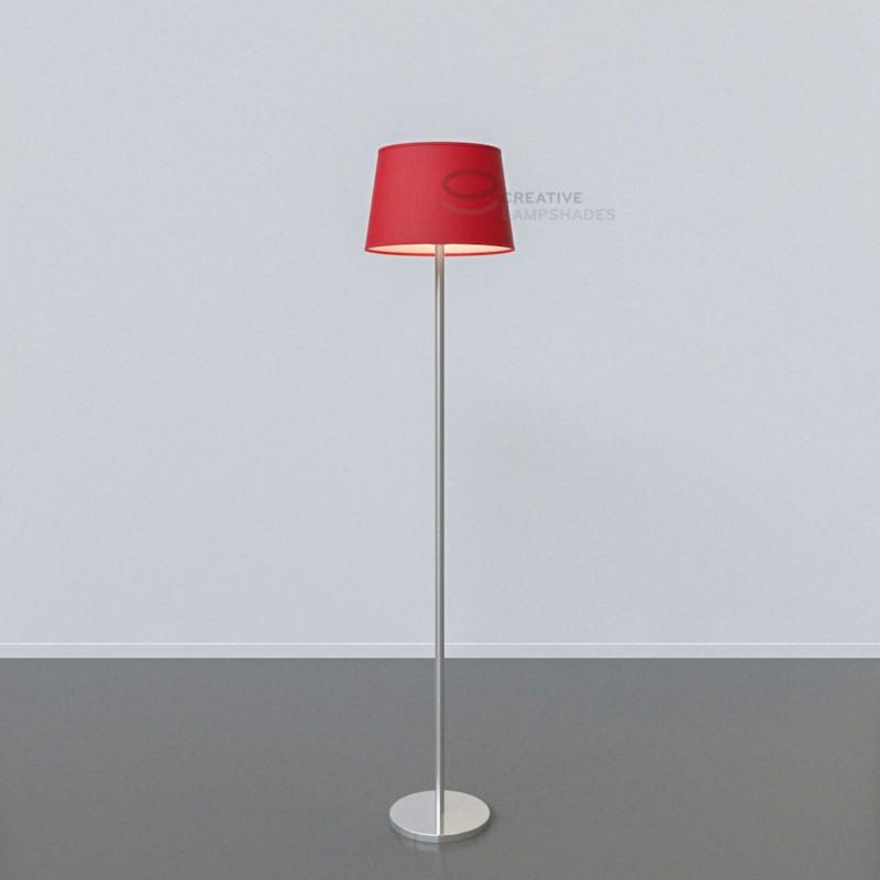 oval verkleideter lampenschirm kaminrot leinwand. Black Bedroom Furniture Sets. Home Design Ideas