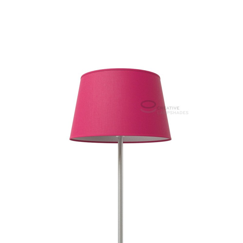Oval Lampshade with Fuchsia Pink Canvans covering