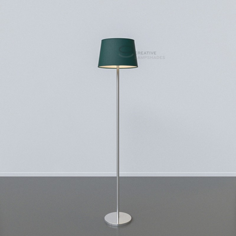 Oval Lampshade with Dark Green Canvas covering