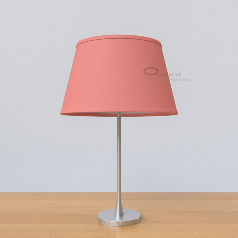 Oval Lampshade with Antique Pink Cinette covering