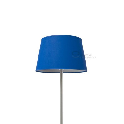 Oval Lampshade with Blue Cinette covering