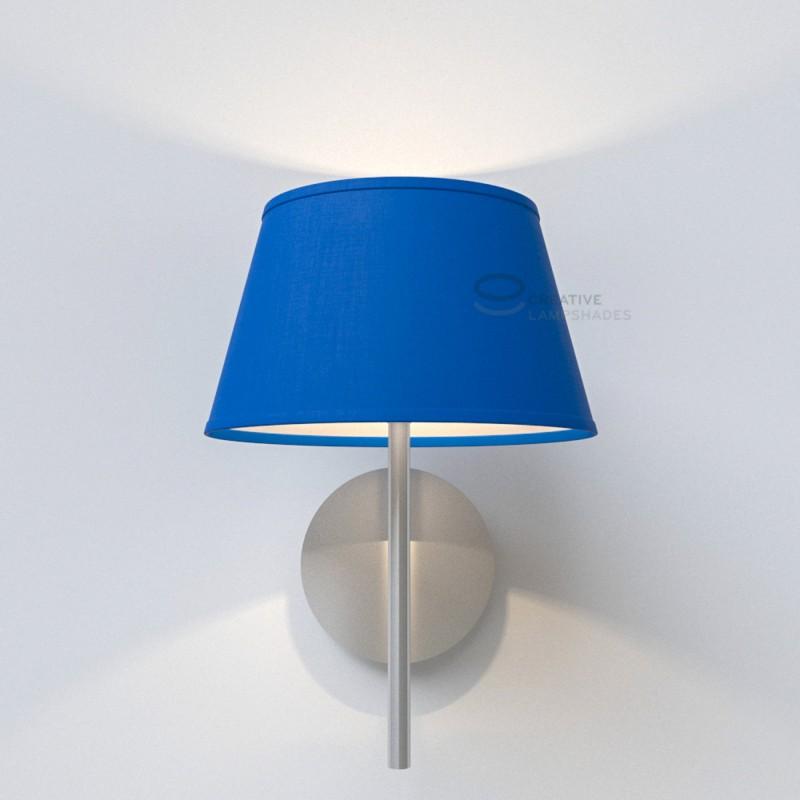 Paralume Ovale rivestimento Cinette Blu