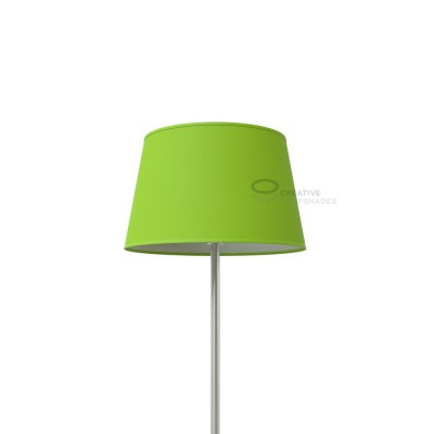 Oval Lampshade with Pistachio Green Cinette covering