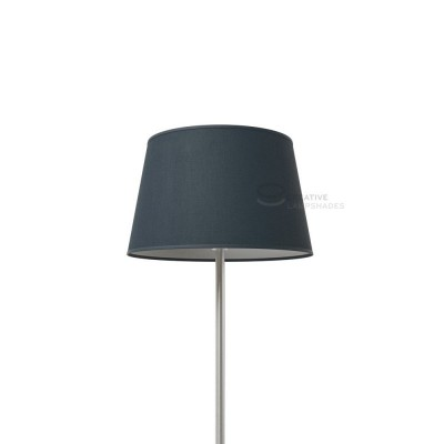 Oval Lampshade with Petrol Blue Cinette covering