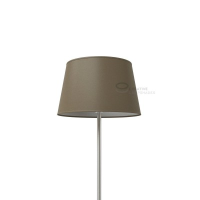 Oval Lampshade with Grey Arenal covering