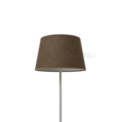 Oval Lampshade with Brown Camelot covering