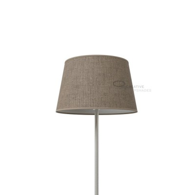 Oval Lampshade with Grey Camelot covering