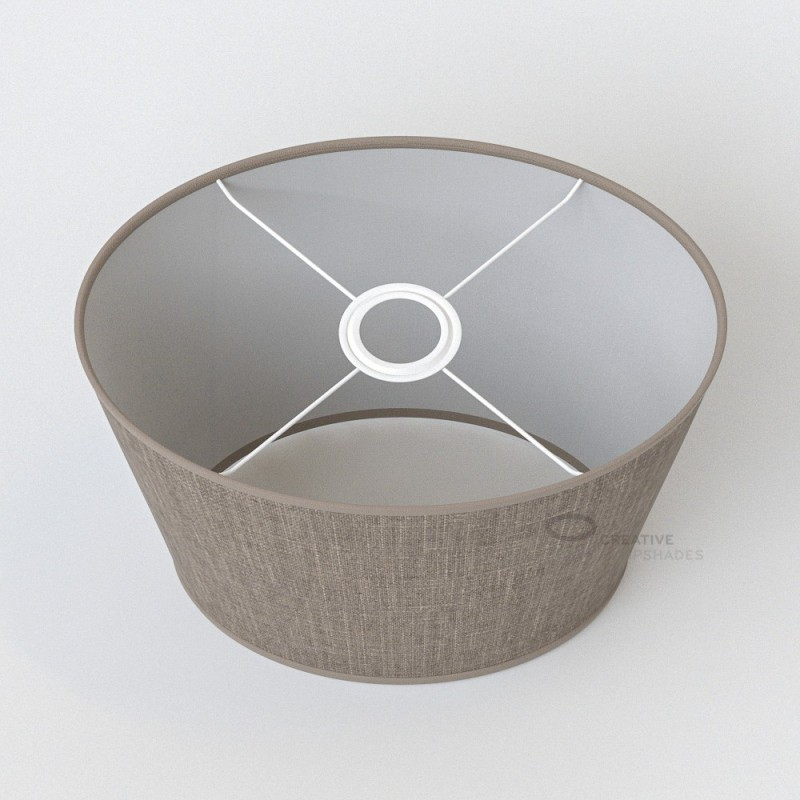 oval verkleideter lampenschirm graubeige camelot. Black Bedroom Furniture Sets. Home Design Ideas